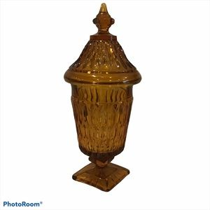 Amber colour Apothecary jar